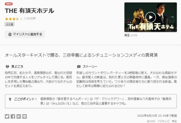 THE有頂天ホテル-U-NEXT